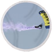 Member Of The U.s. Navy Parachute Round Beach Towel