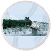 Memories Of Sea Isle Round Beach Towel