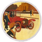 Mercedes Daimler Round Beach Towel