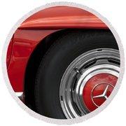 Mercedes Wheel Round Beach Towel