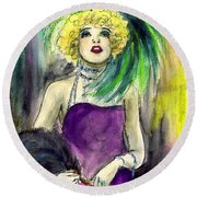 Merry Widow Round Beach Towel