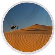 Merzouga, Morocco Round Beach Towel
