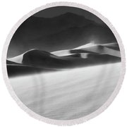 Death Valley California Mesquite Dunes 2 Round Beach Towel