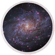 Messier 33, Spiral Galaxy In Triangulum Round Beach Towel by Robert Gendler