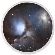 Messier 78, Also Known As Ngc 2068 Round Beach Towel