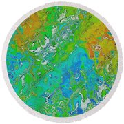Messy Thick Paint Round Beach Towel