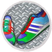Metal Grate Sport Shoe Round Beach Towel