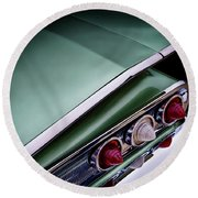Metalic Green Impala Wing Vingage 1960 Round Beach Towel