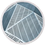 Metallic Frames Round Beach Towel