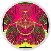 Metamorphosis  Emerging From The Cocoon Fractal 125 Round Beach Towel