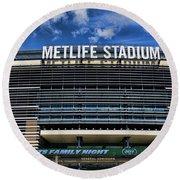 Metlife Stadium Round Beach Towel