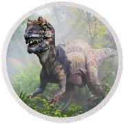 Metriacanthosaurus Round Beach Towel