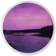 Mew Island, Belfast Lough, County Down Round Beach Towel