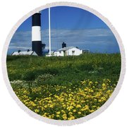 Mew Island, County Down, Ireland Round Beach Towel