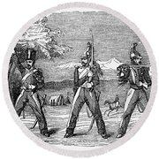 Mexican American War, 1846 Round Beach Towel