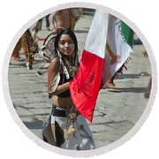 Mexican Heritage Round Beach Towel