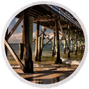 Mexico Beach Pier Round Beach Towel