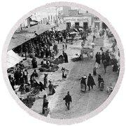 Mexico City - C 1901 Round Beach Towel