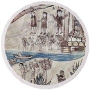 Mexico Indians C1500 Round Beach Towel