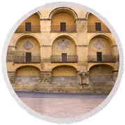 Mezquita And Plaza Del Triunfo Round Beach Towel