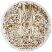 Mezquita Cathedral Ceiling Round Beach Towel
