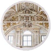 Mezquita Cathedral Renaissance Ornamentation Round Beach Towel
