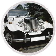 Mg Classic Car Round Beach Towel