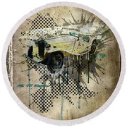 Mg Tc Roadster Round Beach Towel
