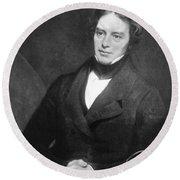 Michael Faraday, English Chemist Round Beach Towel