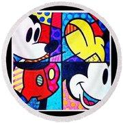 Mickey Colors Round Beach Towel