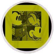 Mickey In Yellow Round Beach Towel