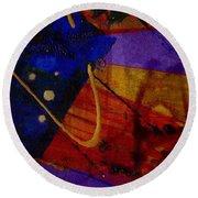 Mickey's Triptych - Cosmos IIi Round Beach Towel