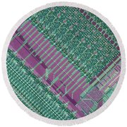 Micrograph Of Chip Round Beach Towel