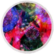 Microscope Dreaming 4 Round Beach Towel