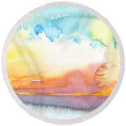 Midday 26 Round Beach Towel