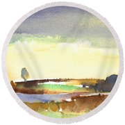 Midday 27 Round Beach Towel