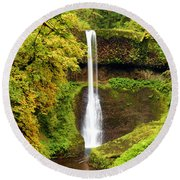 Middle North Falls Round Beach Towel