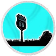 Middle Of Nowhere Round Beach Towel