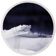 Midnight In January Round Beach Towel by Susan Capuano