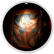 Midway Frights Round Beach Towel