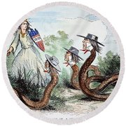 Midwest Copperheads, 1863 Round Beach Towel