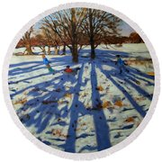 Midwinter Round Beach Towel