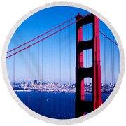 Mighty Golden Gate Round Beach Towel