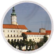 Mikulov Castle Round Beach Towel