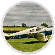 Miles M.3 Falcon Circa 1934 Round Beach Towel