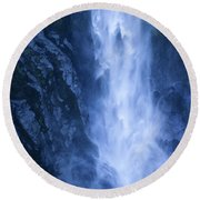 Milford Sound New Zealand Round Beach Towel