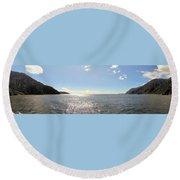 Milford Sound Nz Round Beach Towel