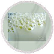 Milk Bubbles 1 Round Beach Towel