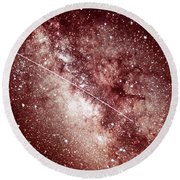 Milky Way In Sagittarius Round Beach Towel