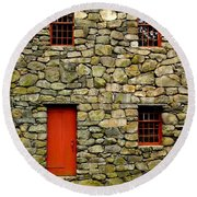 Mill House Over Stream Round Beach Towel